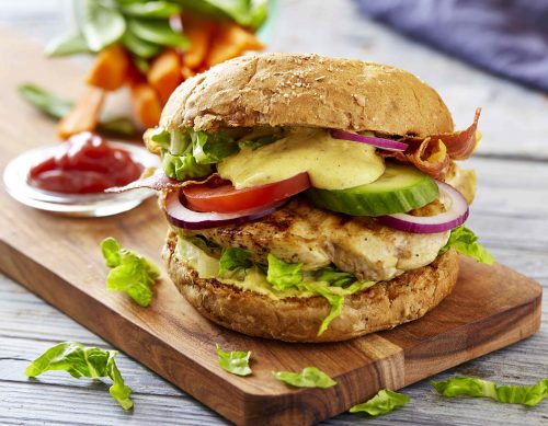 Sund burger, opskrift sund kyllingeburger, slankekost