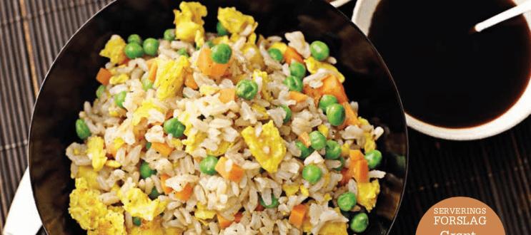 Stegte ris med æg